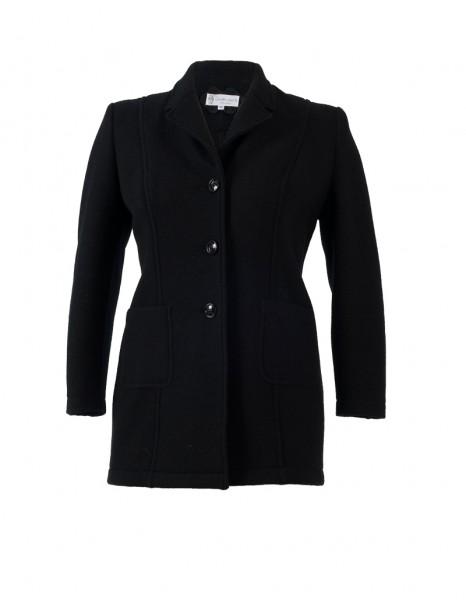 Damengehrock in schwarzer Schurwolle