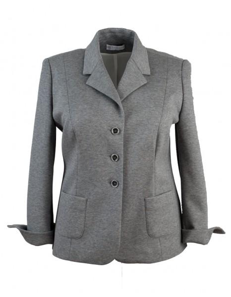 Grauer Jersey-Damenblazer