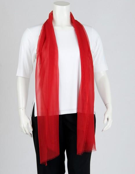 Roter Schal aus Chiffonseide