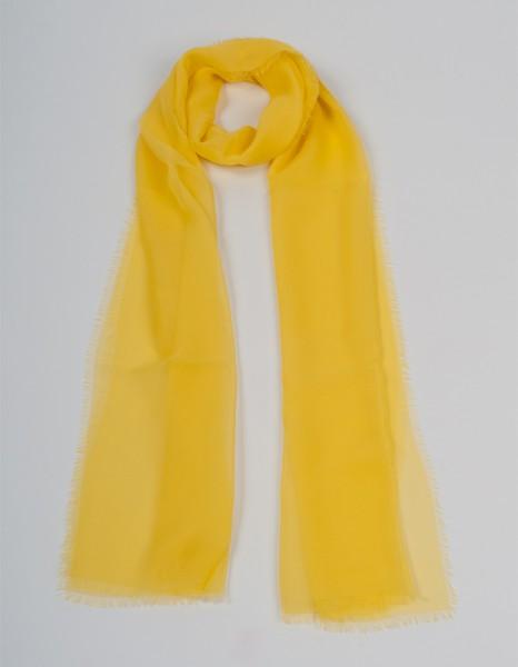 Gelber Schal aus Chiffonseide
