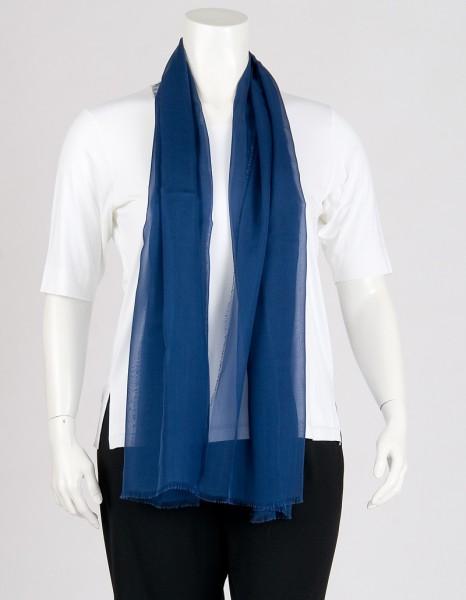 Royalblauer Stola-Schal aus Chiffonseide