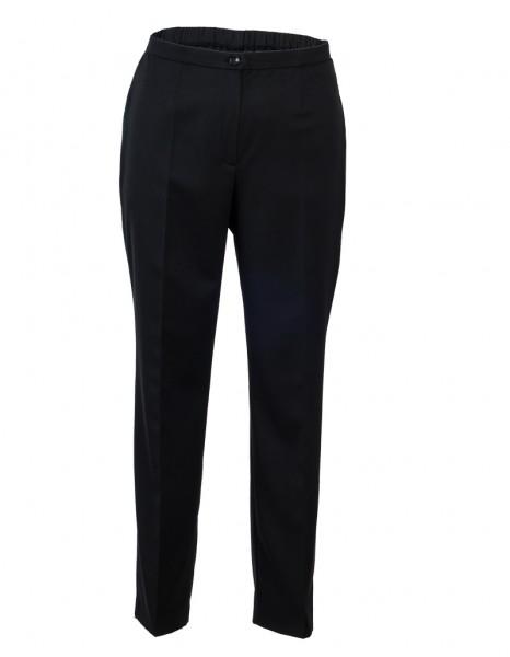 Damenhose aus schwarzem Garbardine