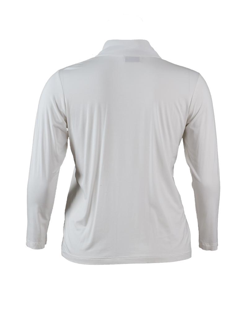 fc34f16dc0a998 ... Vorschau: Weißes Schluppen-Shirt in großer Größe ...