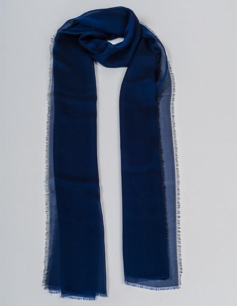Blauer Schal aus Chiffonseide