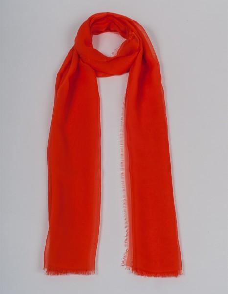 Oranger Schal aus Chiffonseide