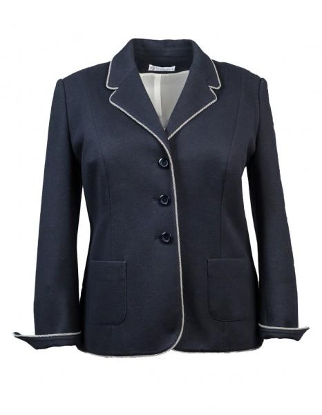 Damen-Jersey-Blazer marine mit Paspel